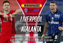 Prediksi Liverpool vs Atalanta 26 November 2020