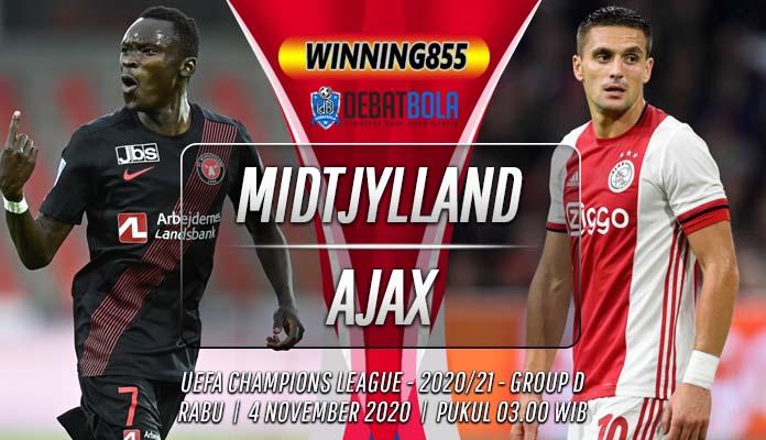 Prediksi Midtjylland vs Ajax 4 November 2020