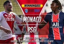 Prediksi Monaco vs PSG 21 November 2020