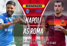 Prediksi Napoli vs AS Roma 30 November 2020