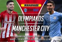 Prediksi Olympiakos vs Manchester City 26 November 2020