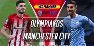 Prediksi Olympiakos vs Manchester City 26 November 2020