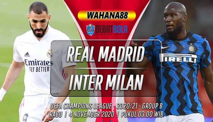 Prediksi Real Madrid vs Inter Milan 4 November 2020