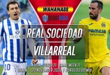 Prediksi Real Sociedad vs Villarreal 30 November 2020