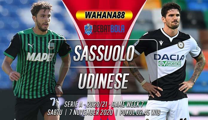 Prediksi Sassuolo vs Udinese 7 November 2020