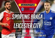Prediksi Sporting Braga vs Leicester City 27 November 2020