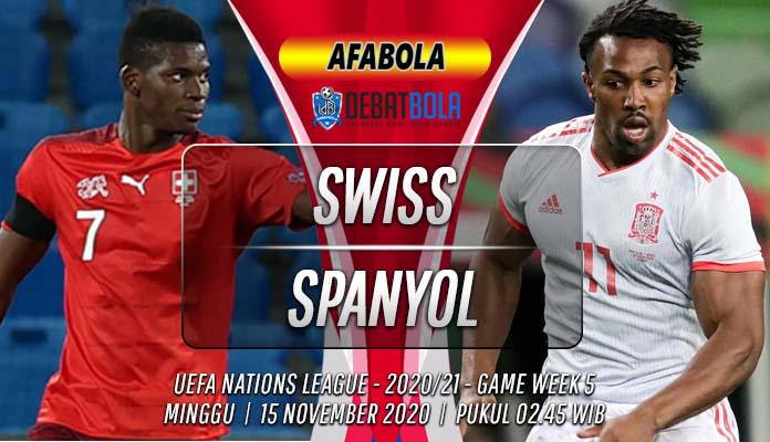 Prediksi Swiss vs Spanyol 15 November 2020