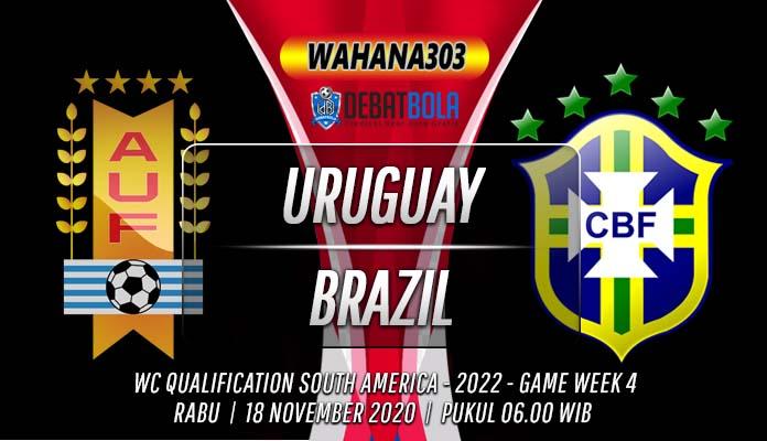 Prediksi Uruguay vs Brazil 18 November 2020