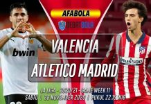 Prediksi Valencia vs Atletico Madrid 28 November 2020