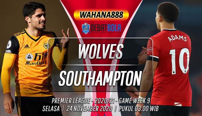 Prediksi Wolves vs Southampton 24 November 2020