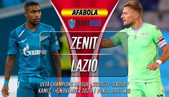 Prediksi Zenit vs Lazio 5 November 2020