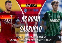 Prediksi AS Roma vs Sassuolo 6 Desember 2020