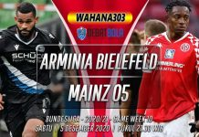 Prediksi Arminia Bielefeld vs Mainz 05 5 Desember 2020