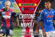 Prediksi Crotone vs Napoli 7 Desember 2020