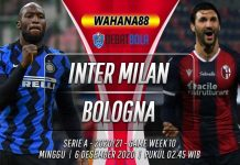 Prediksi Inter Milan vs Bologna 6 Desember 2020